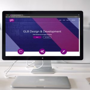 GLB Design & Development website landing page